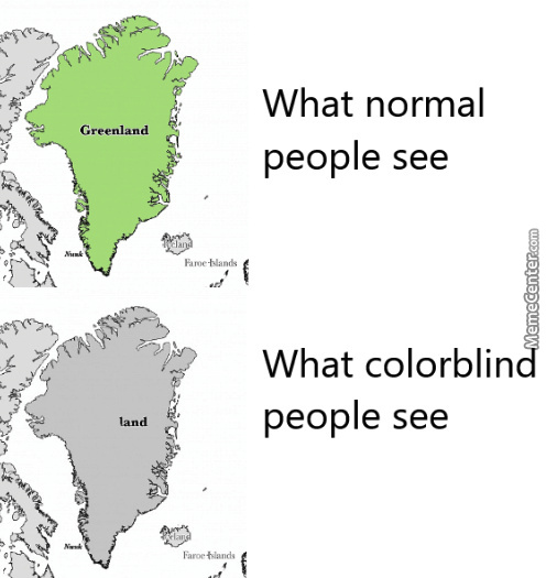 How Colourblind People See Greenland