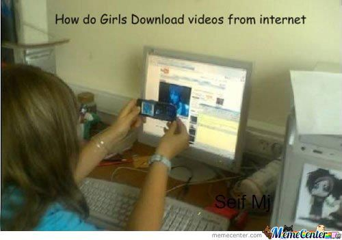 How Do Girls Download Videos