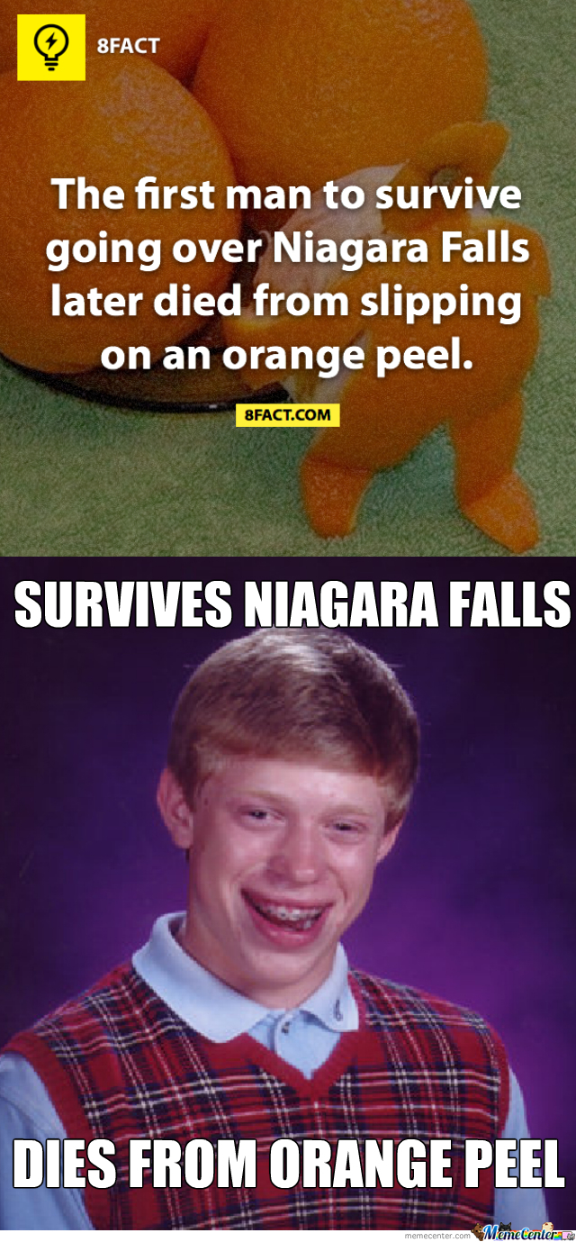 How Do You Die From Slipping On An Orange Peel?!?!?!
