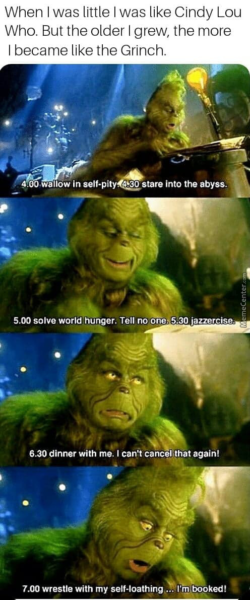 How Grinchy I Have Become