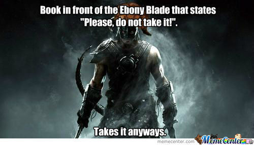 The ebony blade