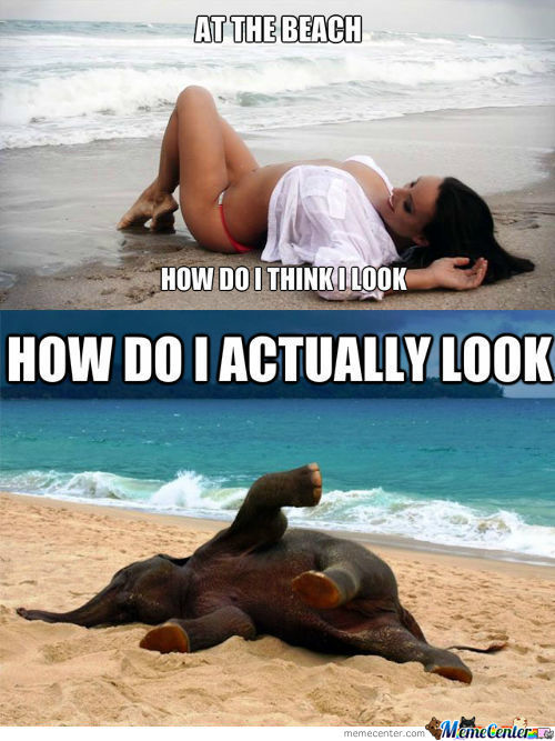 How I Look At The Beach