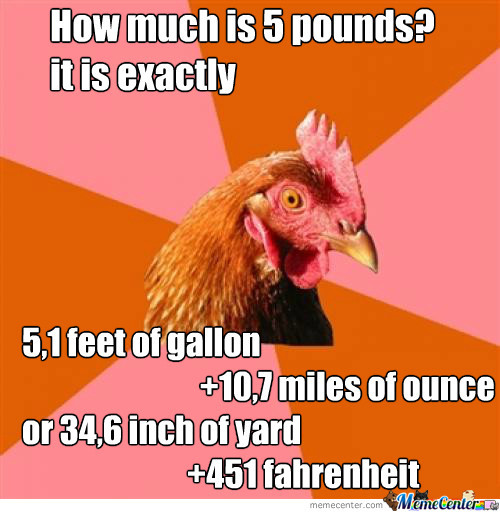 How I Think About The 'murican Measurement System