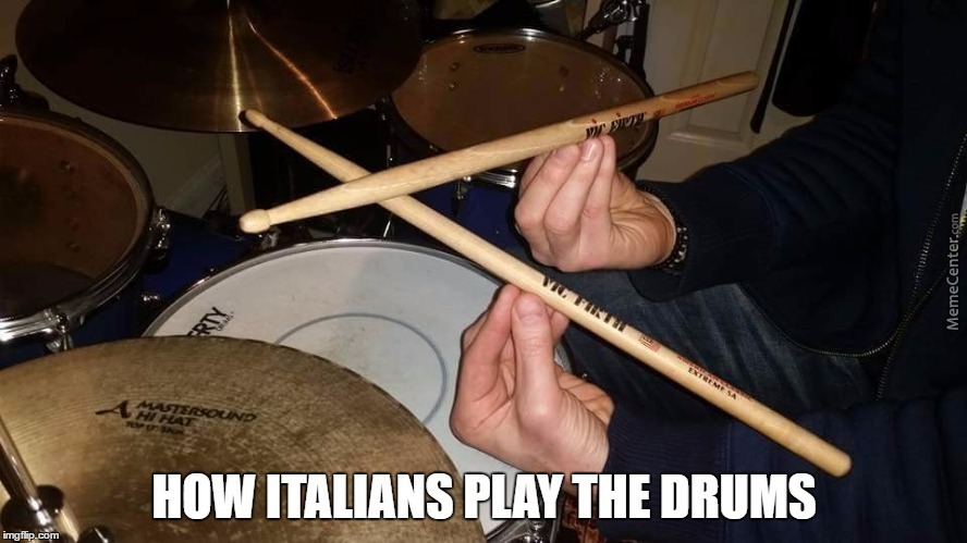 How Italians Play The Drums