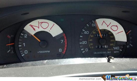 How My Mom See The Speedometers