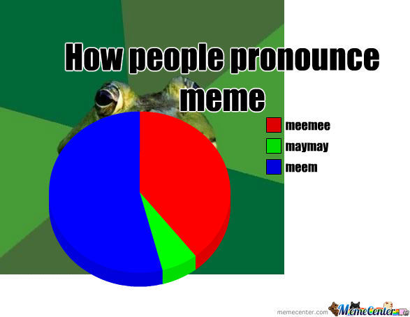 How People Pronounce The Word Meme