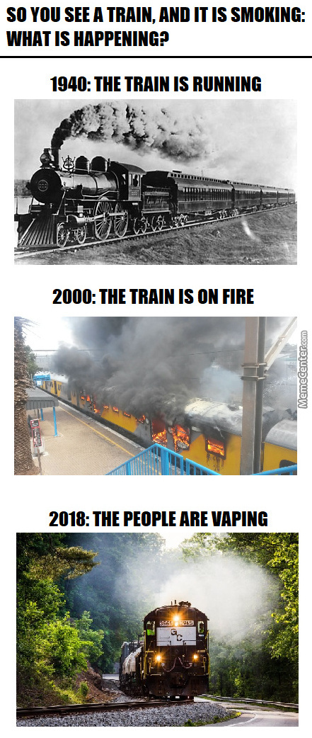 How Smoke From Trains Have Changed Over The Years