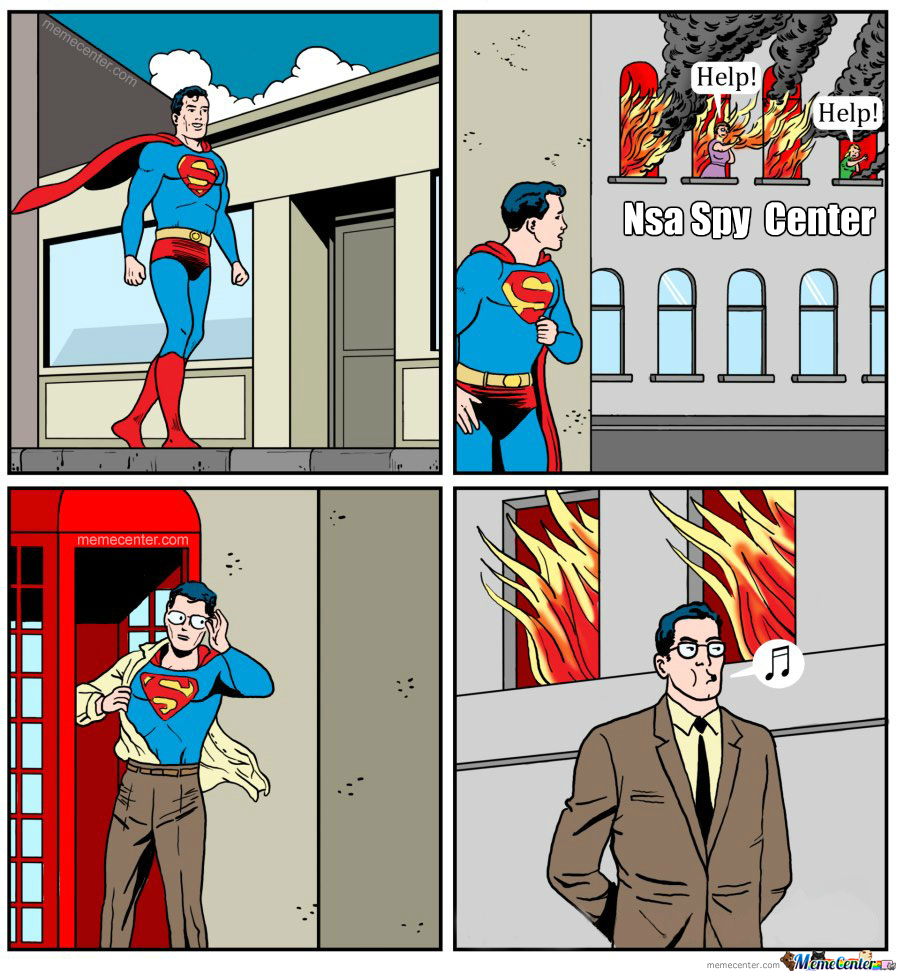 How Supermans Reacts To Nsa