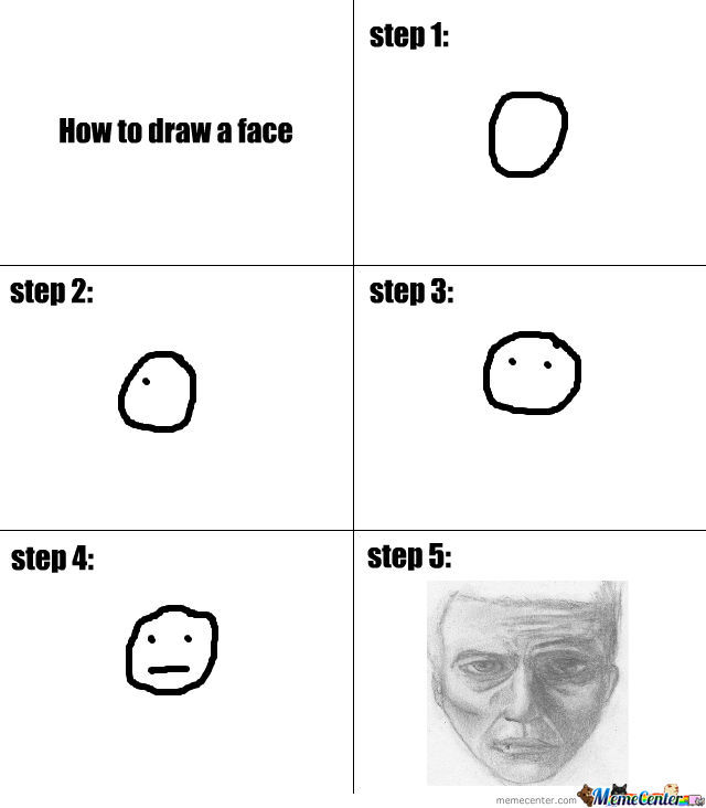 how to draw a face tutorial by opixelkingpin meme center
