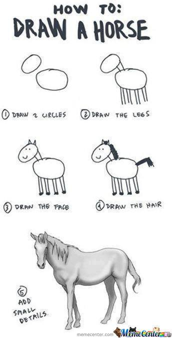 How To Draw A Horse By Anonymoususer Meme Center