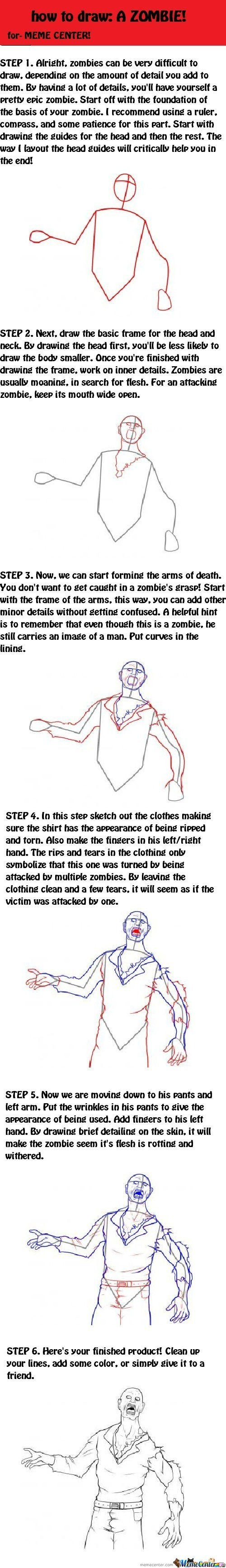 How To Draw: A Zombie!