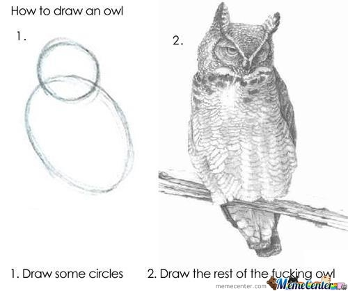 How To Draw An Owl In 2 Steps!