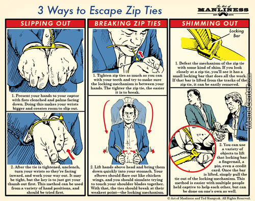Meme center serathdarklands posts page 114 how to escape a zip tie ccuart Image collections