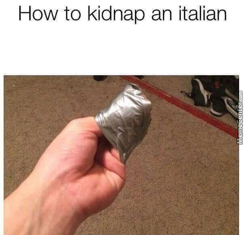 How To Kidnap An Italian