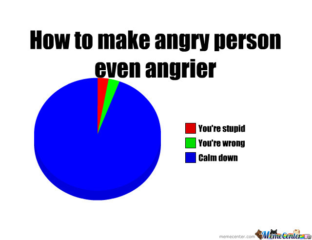 How To Make Angry Person Even Angrier