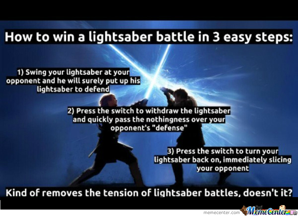 How To Win A Lightsaber Battle