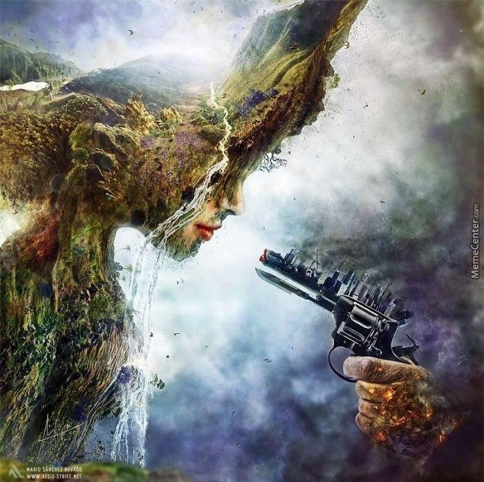 humans vs nature this is really cool d by alphagusta meme center