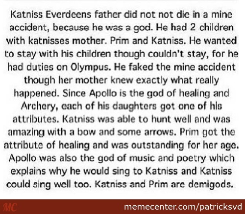 Hunger Games Meets Percy Jackson