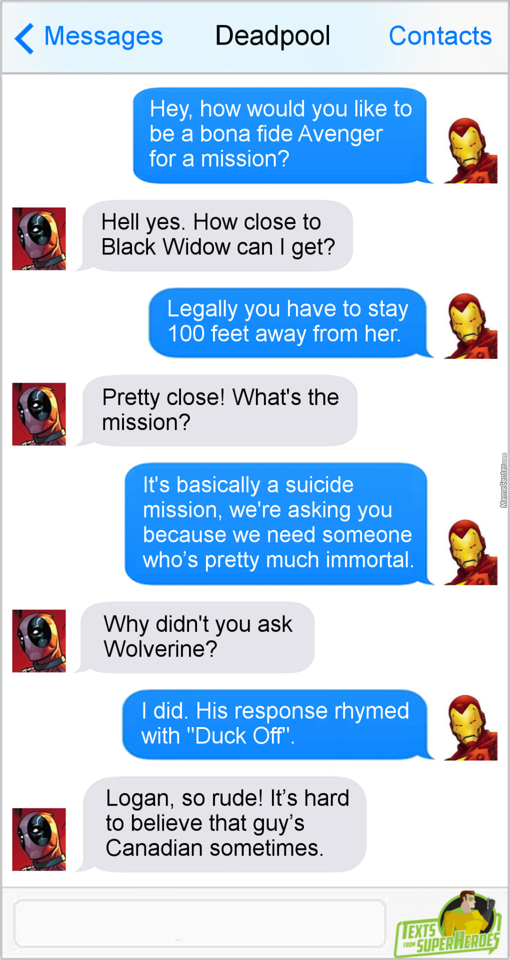 I'm Pretty Sure 90% Of The Reason Deadpool Wants To Be An Avenger Is To Stare At Black Widow's Ass