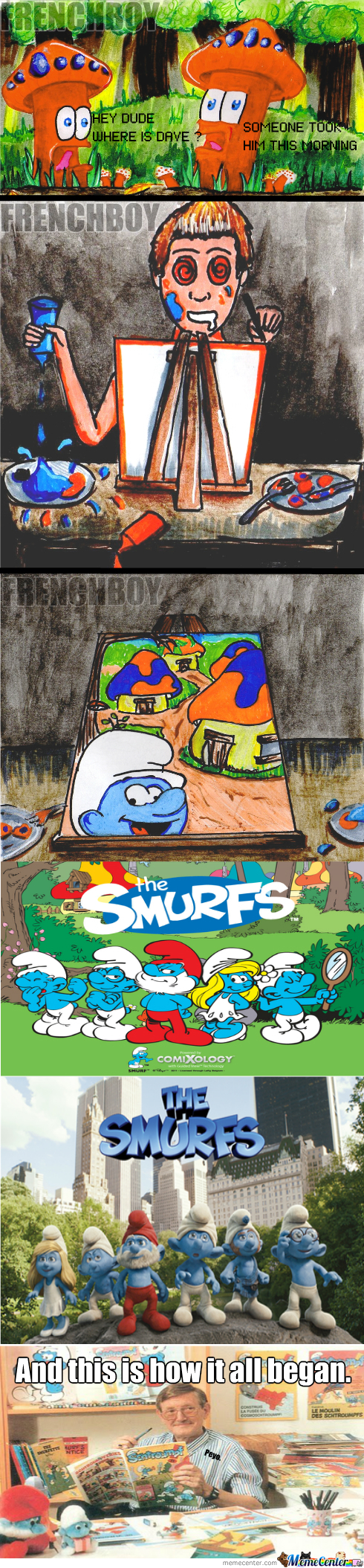 I've Always Wondered How Peyo Has Created The Smurfs.