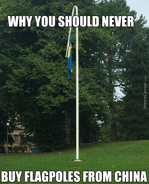 I've Heard Of Raising The Flag Half Pole, But This Is Just Silly