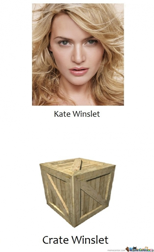 I bet that crate can act better than her
