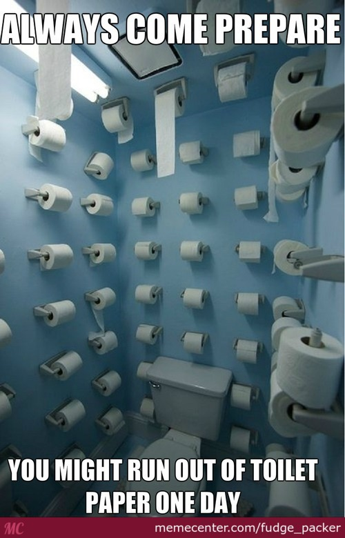 I Can't Reach The Toilet Paper On The Ceiling