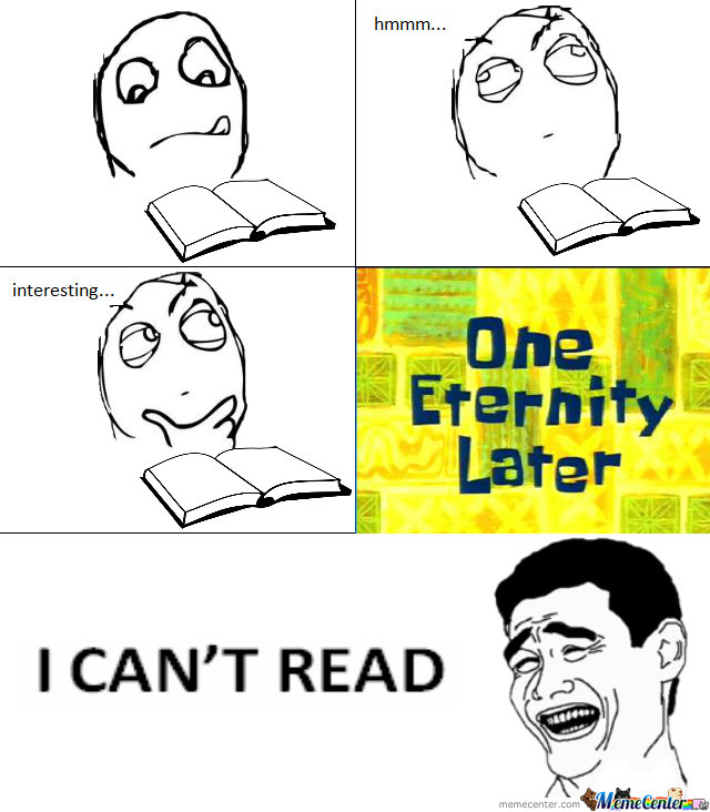 I Can't Read