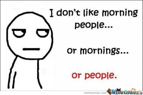 I Do Not Like Morning People