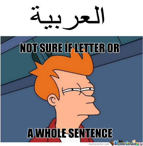 I Don't Know Arabic