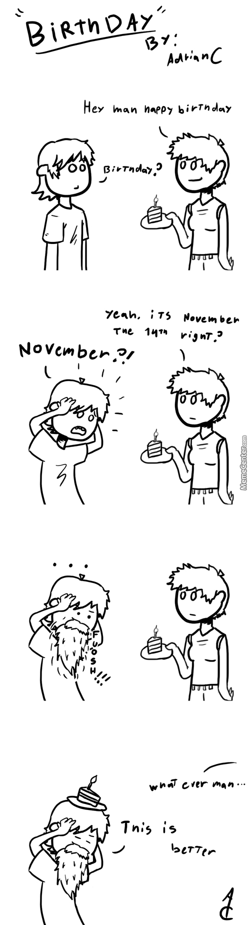 "I Forgot About My Brthday Untill A Couple Of Days Ago... Also ""no Shave November"""