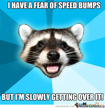 I Have A Fear Of Speed Bumps!