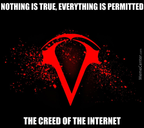 I Know It's Upsidedown, It's The Creed Of The Internet