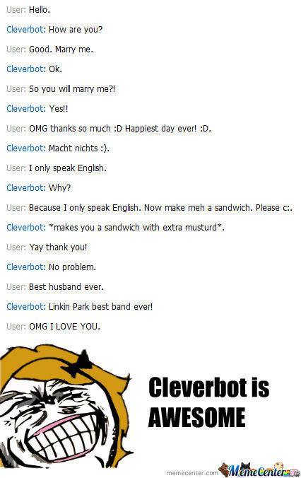 I Love You Cleverbot C: