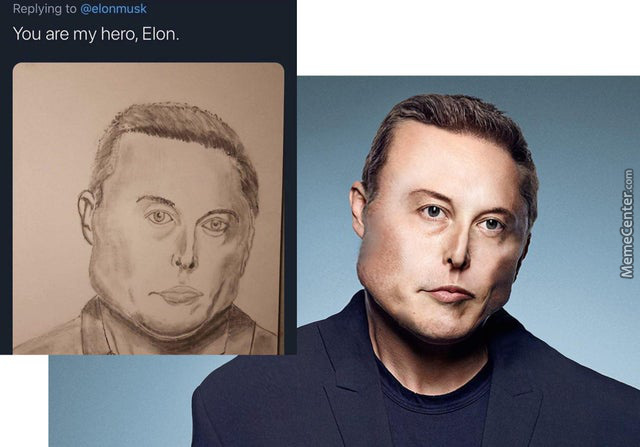 I Made That One Guy'S Elon Musk Drawing Come To Life In Photoshop