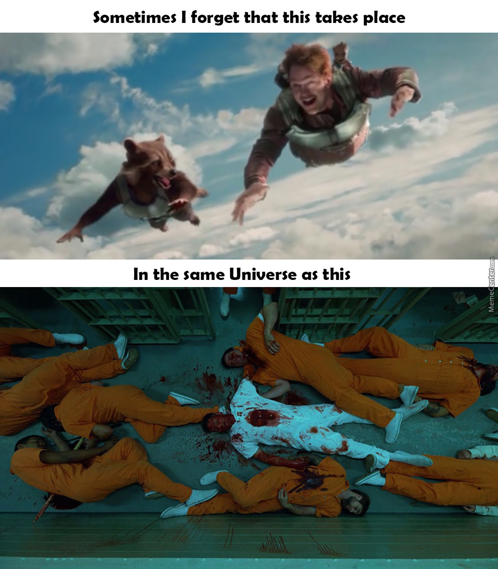I Mean Both Are Good, Its Just Weird Knowing They Co-Exist In The Same Universe.