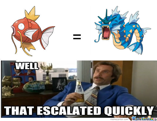 I Mean, It Goes From A Useless Fish To A Fucking Dragon