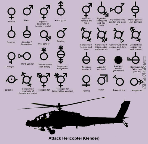 I Sexually Identify As An Attack Helicopter.