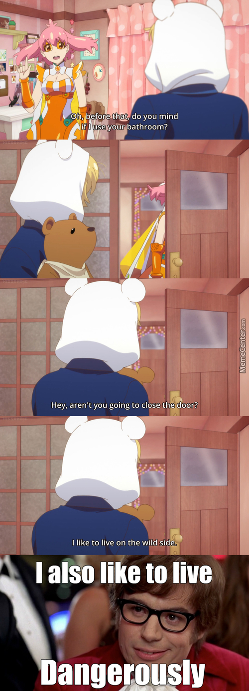 I Sometimes Don't Lock The Bathroom Door (Anime: Punchline)