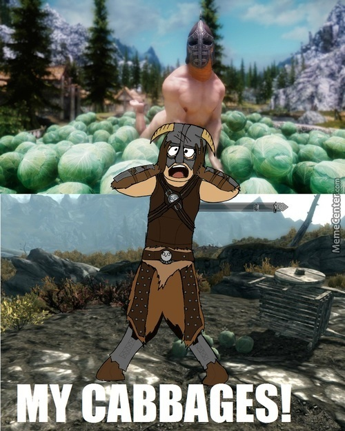 I Used To Be An Adventurer Like You, Then I Became A Naked Cabbage Model So I Can Swing My Schlong In Sweet Cabbagey Goodness.
