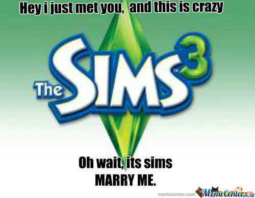 I Wanna Be A Sim!!!