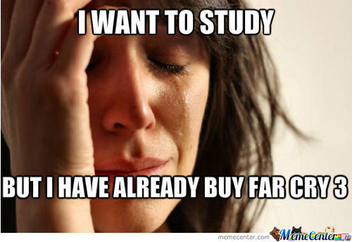 I Want To Study But ....