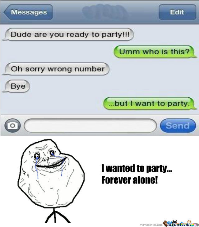 I Wanted To Party!