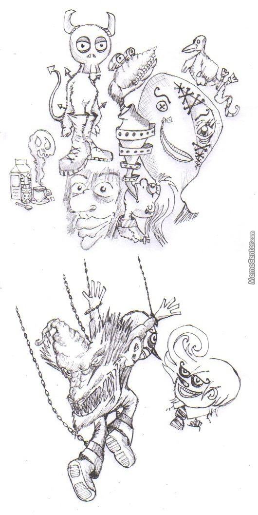 I was bored so i started to draw crazy things 30 by elguru for Crazy stuff to draw