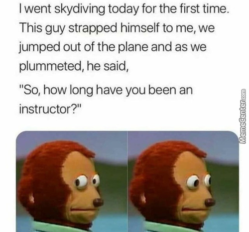 I Went Skydiving Today For The First Time