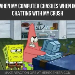 I Wonder What Patrick Was Doing On The Computer By