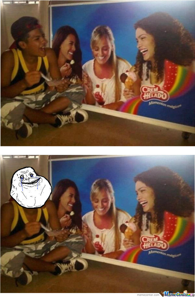 Ice Cream Eating Lvl: Forever Alone