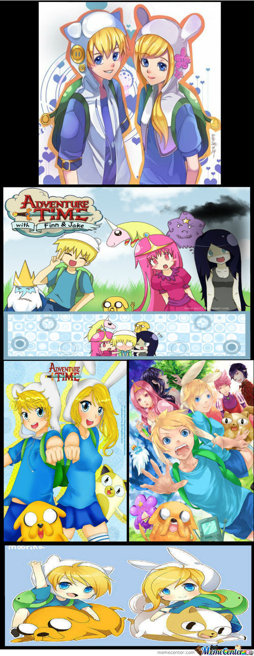 If Adventure Time Was Anime