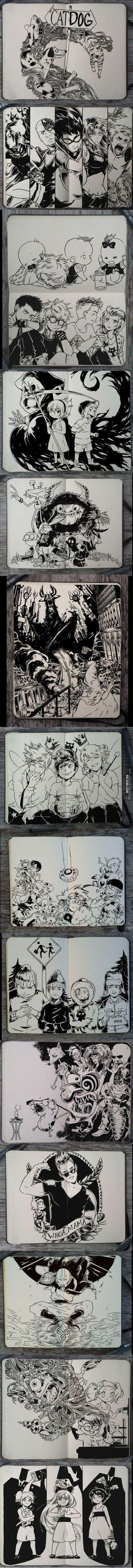 If American Cartoons Were Drawn With Manga Style (Not Mine,found It From 9Gag)