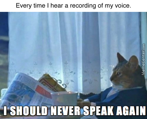 If Anyone Ever Tells You They've Lost Their Voice,  They're Lying